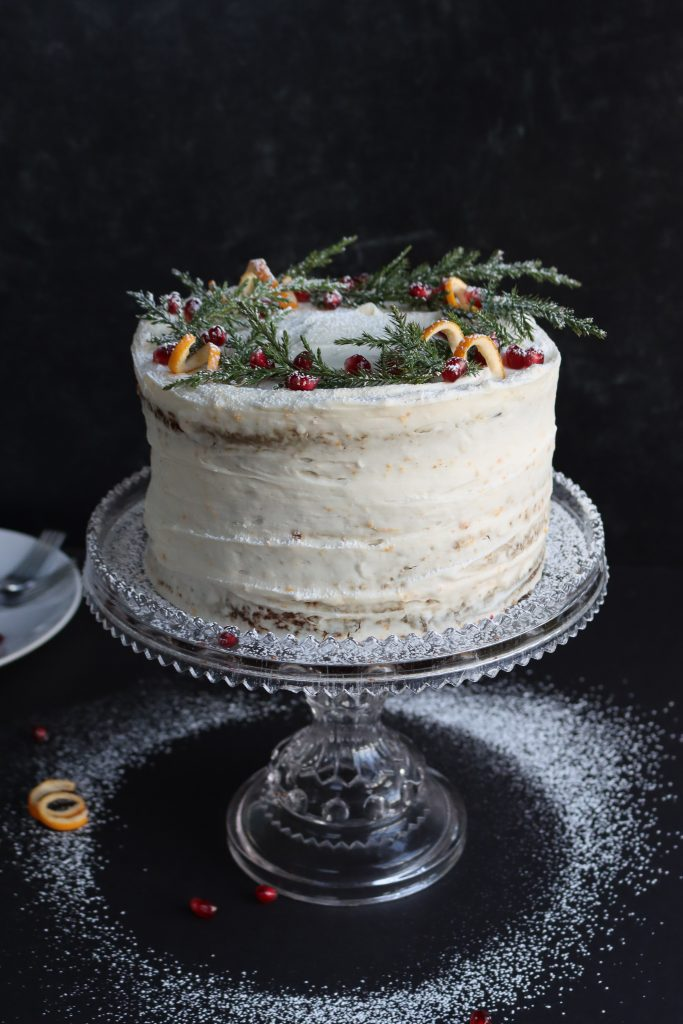 sticky gingerbread cake with cream cheese buttercream