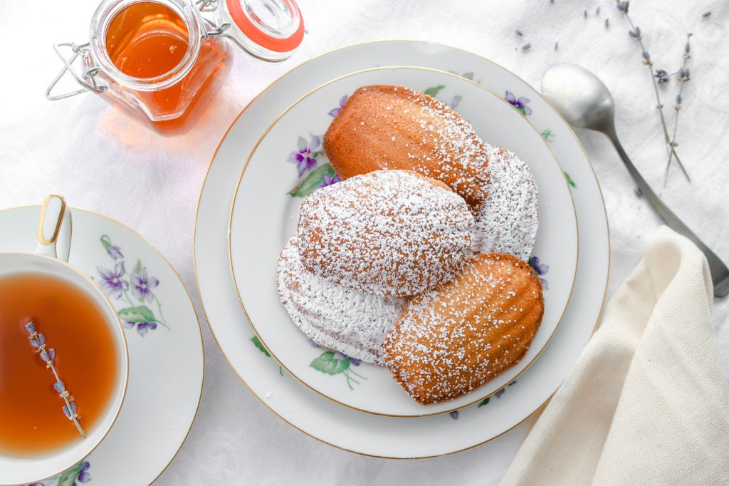 Classic French Madeleines with Lavender & Honey